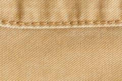 Fondo di struttura del tessuto di Brown, materiale del tessuto Fotografia Stock Libera da Diritti