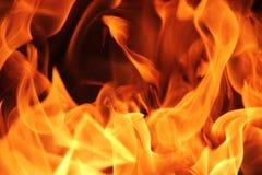 Fondo di struttura della fiamma del fuoco Fotografia Stock Libera da Diritti