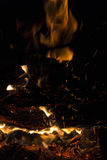 Fondo di struttura della fiamma del fuoco della fiammata Fotografia Stock Libera da Diritti
