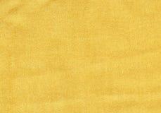 Fondo di struttura della garza Tessuto di lusso dorato Fotografia Stock