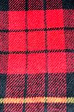fondo di struttura della lana del tartan del modello del quadrato rosso Immagini Stock