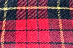 fondo di struttura della lana del tartan del modello del quadrato rosso Immagine Stock