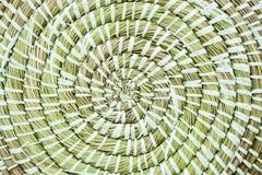 Fondo di struttura della paglia tessuto spirale Immagine Stock