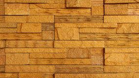Fondo di struttura della parete di pietra di Brown Immagini Stock
