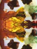 Fondo di struttura della pittura ad olio sulla tavolozza Immagini Stock