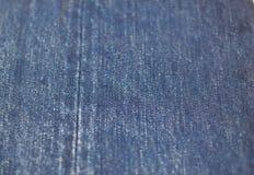Fondo di struttura della sfuocatura molle dei jeans Fotografia Stock