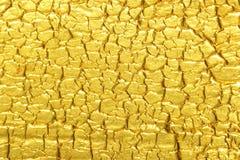 Fondo di struttura della stagnola di oro Immagini Stock Libere da Diritti