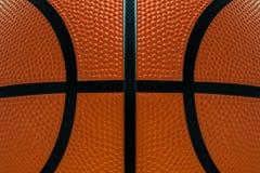 Fondo di struttura della superficie del cuoio del dettaglio della palla di pallacanestro Fotografie Stock Libere da Diritti
