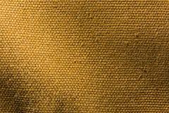 Fondo di struttura della tela di Brown Fotografie Stock