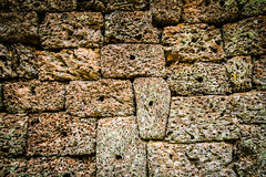 Fondo di struttura di Angkor Wat Rock Fotografia Stock