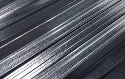 Fondo di struttura di lustro di profilo del metallo Immagini Stock Libere da Diritti