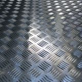 Fondo di struttura di superficie ondulata del metallo Fotografia Stock Libera da Diritti