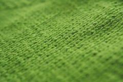 Fondo di struttura - tricottare filo di lana verde Immagine Stock Libera da Diritti