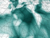 Fondo di superficie caotico futuristico astratto del poligon Fotografia Stock