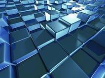 Fondo di superficie di vetro dei blocchetti astratti dei cubi Fotografia Stock Libera da Diritti