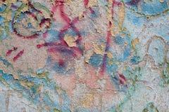 Fondo di superficie dipinto variopinto, colpo orizzontale Immagini Stock