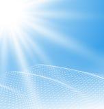 Fondo di superficie poligonale di tecnologia Fotografia Stock