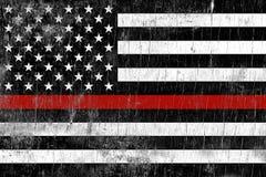 Fondo di Support Weathered Flag del pompiere illustrazione vettoriale