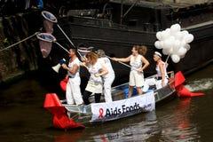 Fondo di sussidi (parata Amsterdam, 2008 del canale) Fotografie Stock