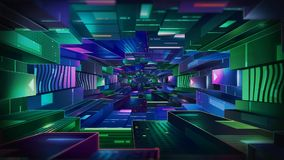 Fondo di tecnologia del tunnel royalty illustrazione gratis