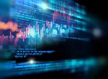 Fondo di tecnologia dell'estratto di numero di codice di Digital illustrazione vettoriale