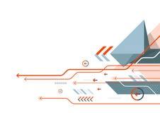 Fondo di tecnologia della comunicazione dell'estratto di vettore, progettazione della rete digitale royalty illustrazione gratis