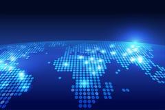 Fondo di tecnologia della mappa di mondo Immagini Stock