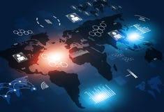Fondo di tecnologia delle comunicazioni di concetto Fotografie Stock Libere da Diritti