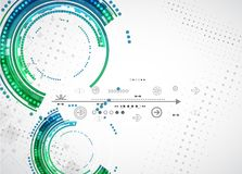Fondo di tecnologia di colore/affare astratti tecnologie informatiche illustrazione di stock
