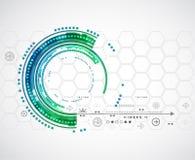 Fondo di tecnologia di colore/affare astratti tecnologie informatiche Fotografie Stock Libere da Diritti