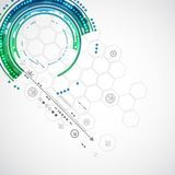 Fondo di tecnologia di colore/affare astratti tecnologie informatiche Immagine Stock