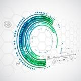 Fondo di tecnologia di colore/affare astratti tecnologie informatiche illustrazione vettoriale