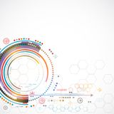 Fondo di tecnologia di colore/affare astratti tecnologie informatiche Immagini Stock Libere da Diritti