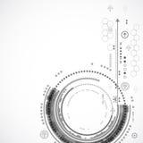 Fondo di tecnologia di colore/affare astratti tecnologie informatiche Immagini Stock
