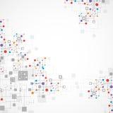 Fondo di tecnologia di colore della rete Immagine Stock Libera da Diritti