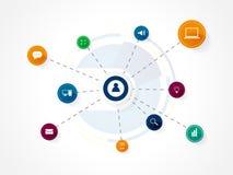 Fondo di tecnologia di rete di progettazione di vettore Fotografie Stock Libere da Diritti