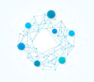 Fondo di tecnologia di rete di progettazione di vettore Immagini Stock