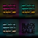 Fondo di tecnologia di vendita di Black Friday Acquisto online di festa Illustrazione di Stock