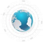 Fondo di tecnologia e concetto astratti della rete globale Fotografia Stock Libera da Diritti
