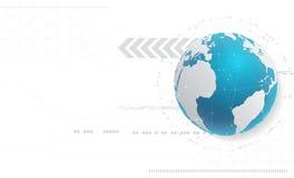 Fondo di tecnologia e concetto astratti della rete globale con la v Fotografia Stock