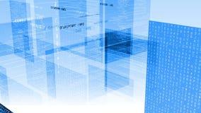 Fondo di tecnologia HD di codice di dati Fotografie Stock