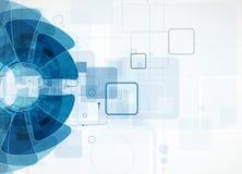 Fondo di tecnologia, idea della soluzione di affari globali Immagini Stock Libere da Diritti