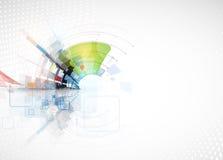 Fondo di tecnologia, idea della soluzione di affari globali Fotografia Stock Libera da Diritti