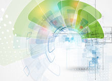 Fondo di tecnologia, idea della soluzione di affari globali Immagini Stock