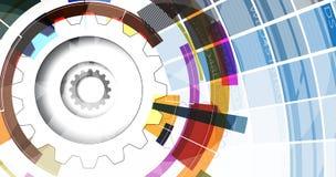 Fondo di tecnologia, idea della soluzione di affari globali Immagine Stock Libera da Diritti