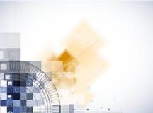 Fondo di tecnologia, idea della soluzione di affari globali Fotografie Stock