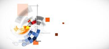 Fondo di tecnologia, idea della soluzione di affari globali illustrazione vettoriale