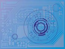 Fondo di tecnologia, illustrazione di vettore Fotografia Stock Libera da Diritti