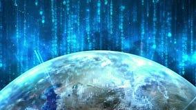 Fondo di tecnologia di rete royalty illustrazione gratis