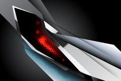 Fondo di tecnologia di scena della superficie dell'acciaio di lustro Fotografia Stock